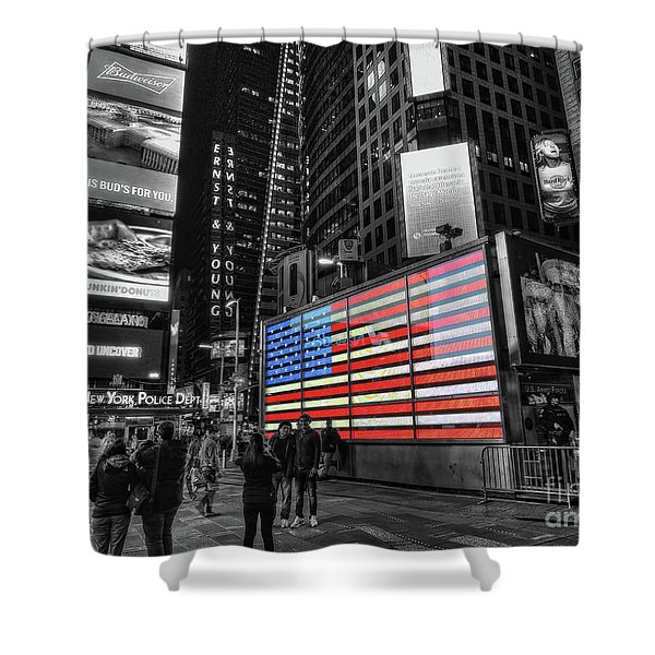 U.s. Armed Forces Times Square Recruiting Station Shower Curtain