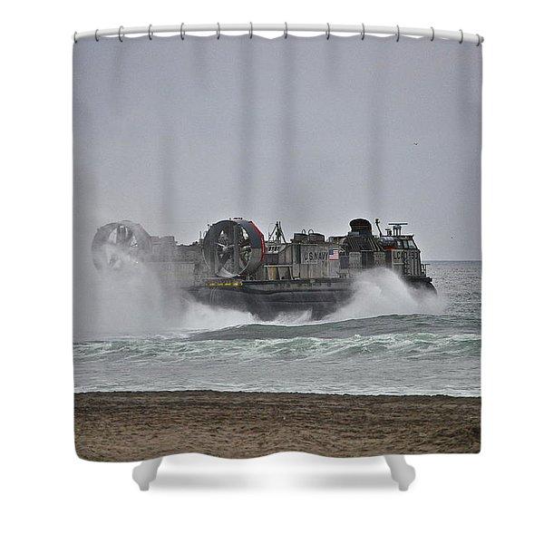 Us Navy Hovercraft Shower Curtain