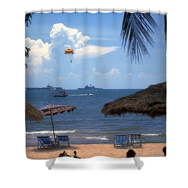 Us Navy Off Pattaya Shower Curtain