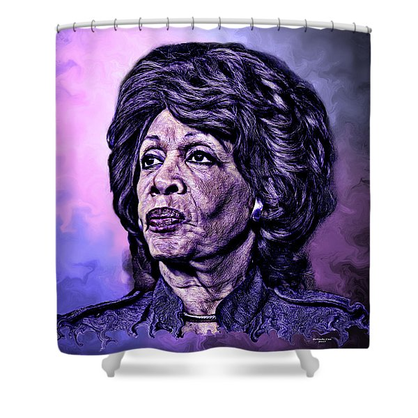Us Representative Maxine Water Shower Curtain