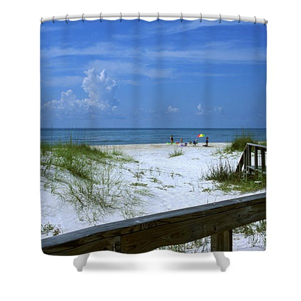 Usa, Florida, Gulf Of Mexico, St Shower Curtain
