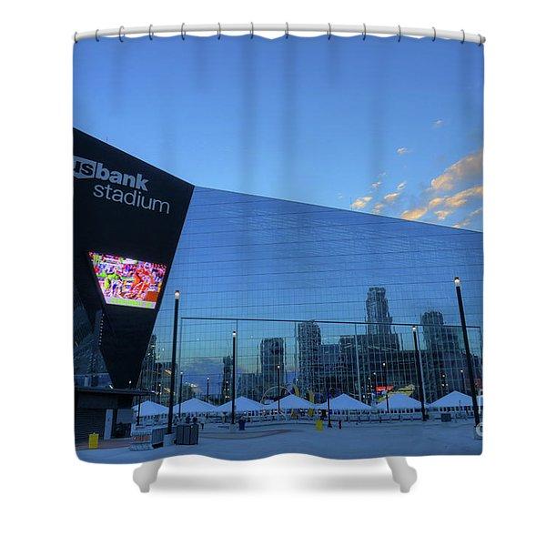 Usbank Stadium Morning Shower Curtain