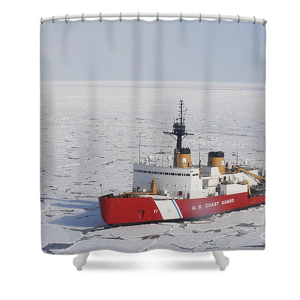Uscgc Polar Sea Conducts A Research Shower Curtain