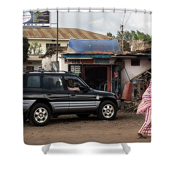 Used Spare Parts Shower Curtain