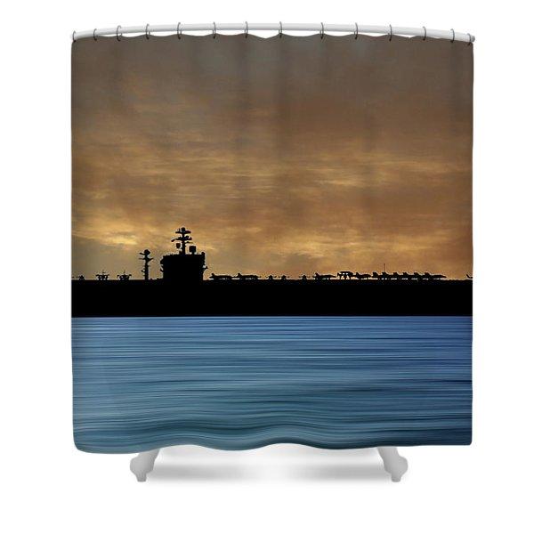 Uss Carl Vinson 1982 V2 Shower Curtain