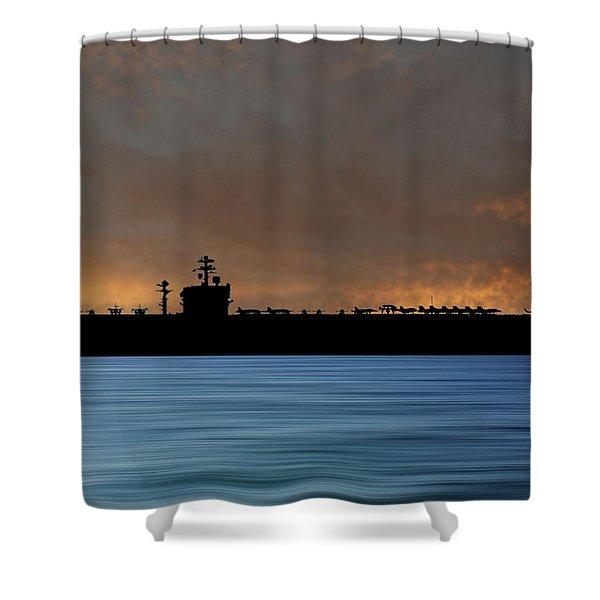 Uss Carl Vinson 1982 V3 Shower Curtain