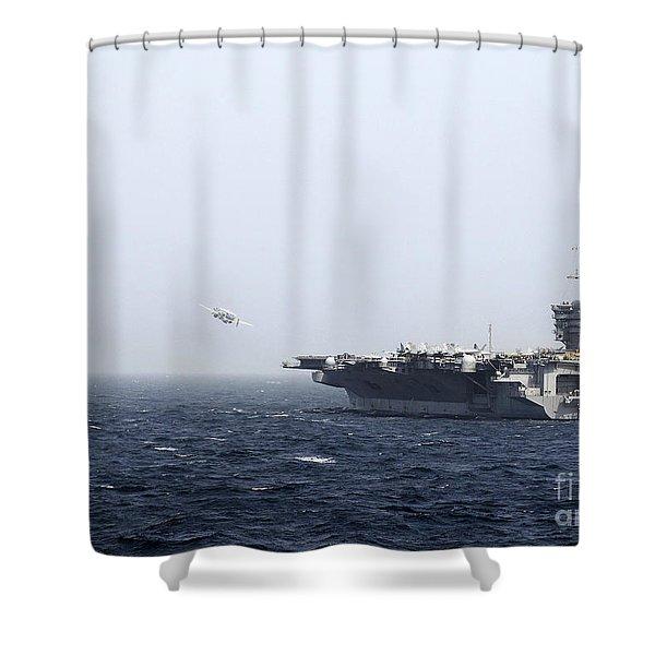 Uss Carl Vinson Launches Aircraft Shower Curtain