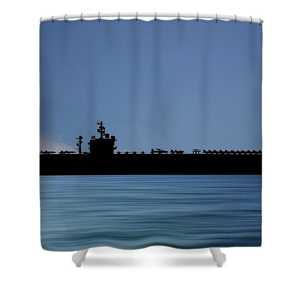 Uss  Dwight D. Eisenhower 1977 V4 Shower Curtain