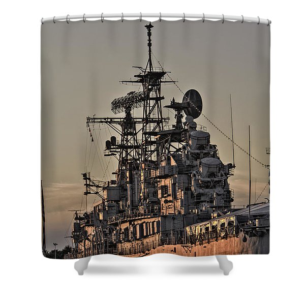 U.s.s Little Rock Shower Curtain