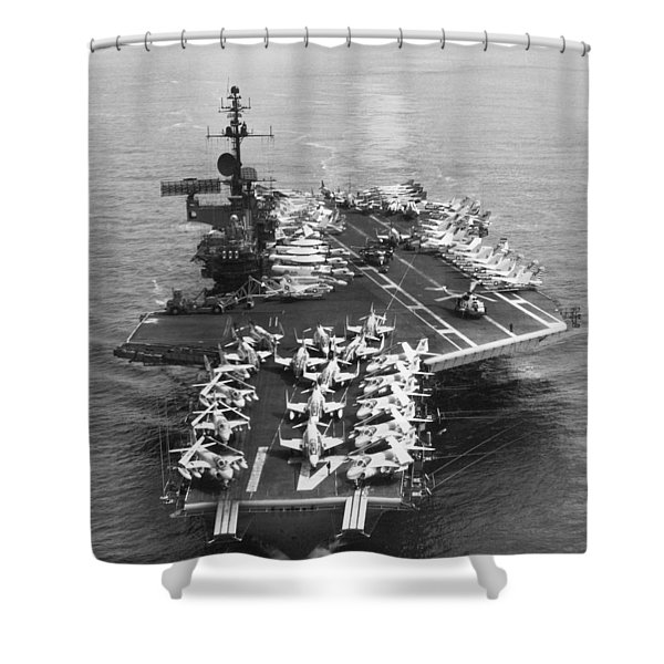Uss Midway Leaves Sf Shower Curtain