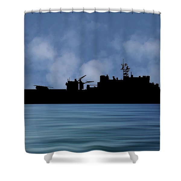 Uss Pearl Harbor 1996 V1 Shower Curtain