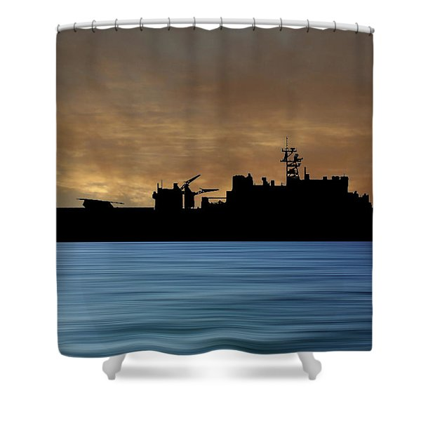 Uss Pearl Harbor 1996 V2 Shower Curtain
