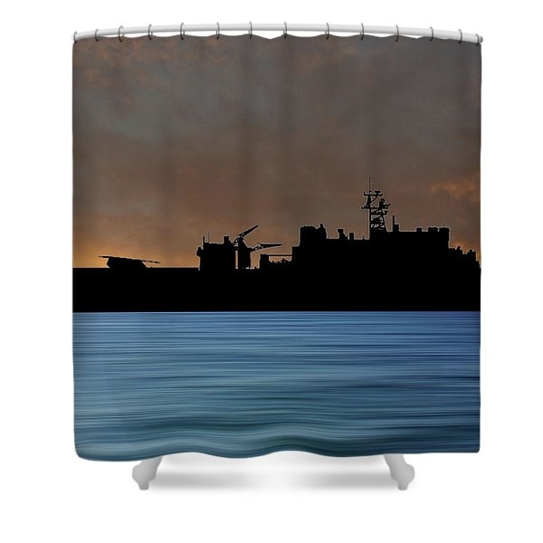 Uss Pearl Harbor 1996 V3 Shower Curtain