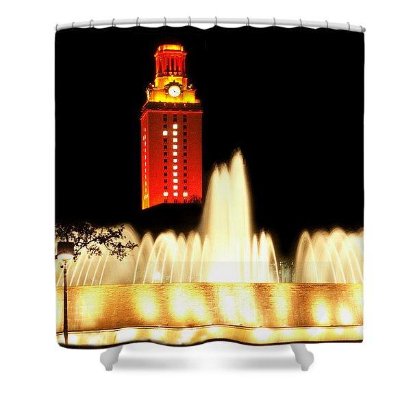 Ut Tower Championship Win Shower Curtain