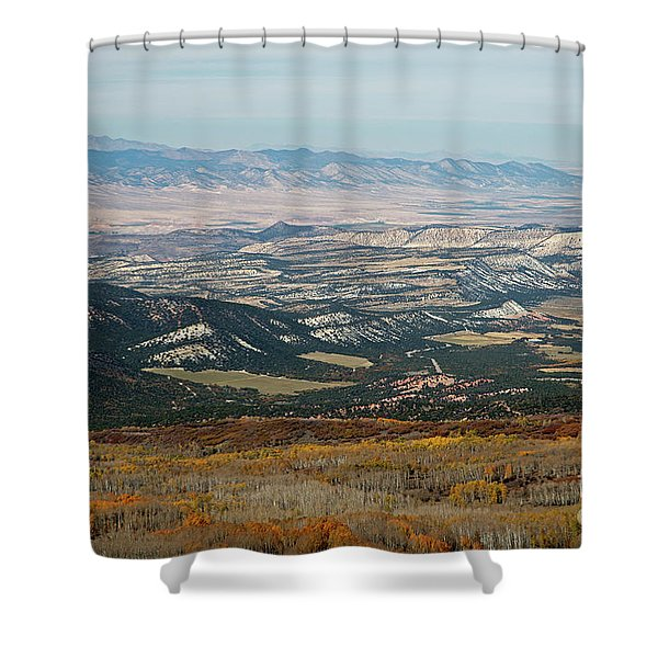 Utah A Patchwork Shower Curtain