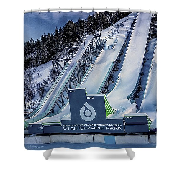 Shower Curtain featuring the photograph Utah Olympic Park by David Millenheft