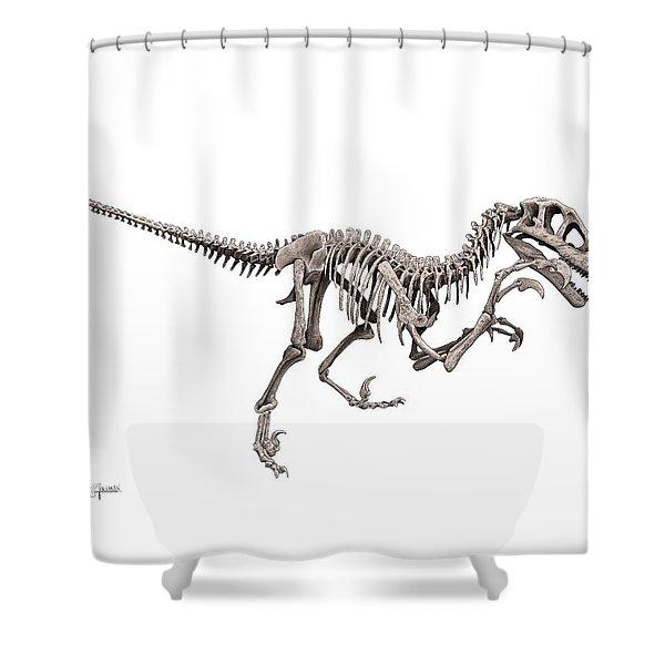 Utahraptor Shower Curtain