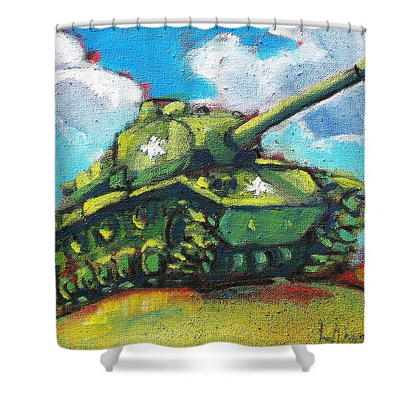 V. F. W. Tank Shower Curtain