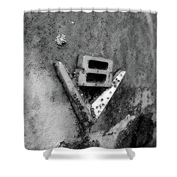 V8 Emblem Shower Curtain