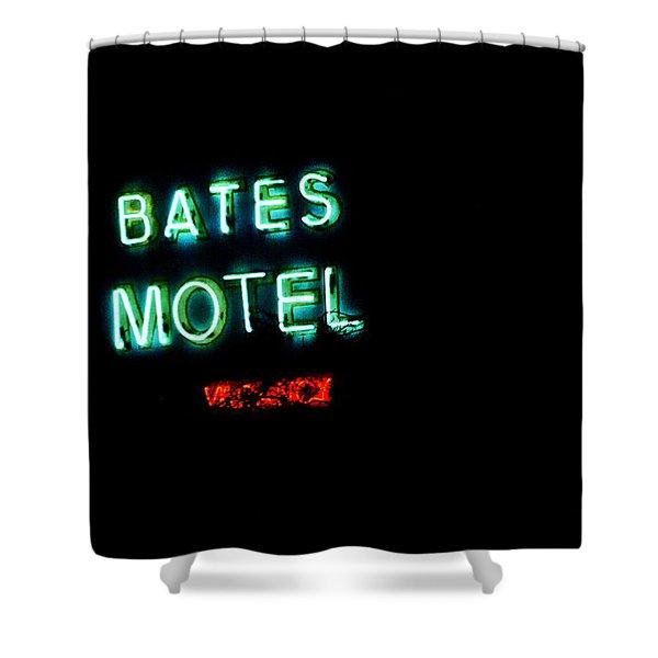 Vacancy At Bates Motel Shower Curtain