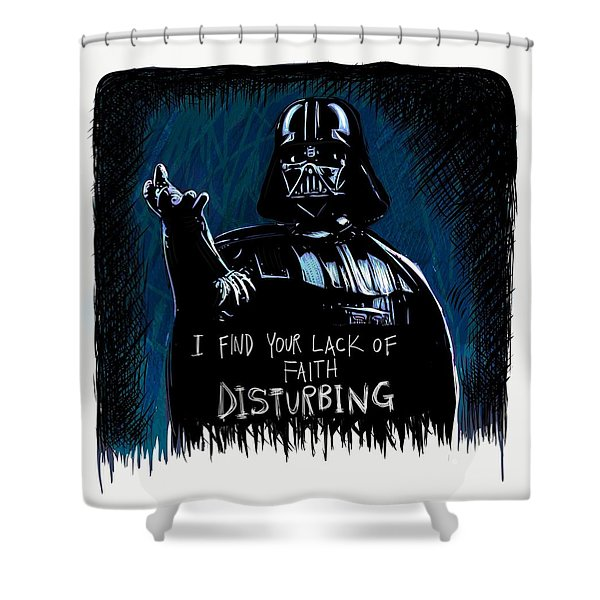 Shower Curtain featuring the digital art Vader by Antonio Romero