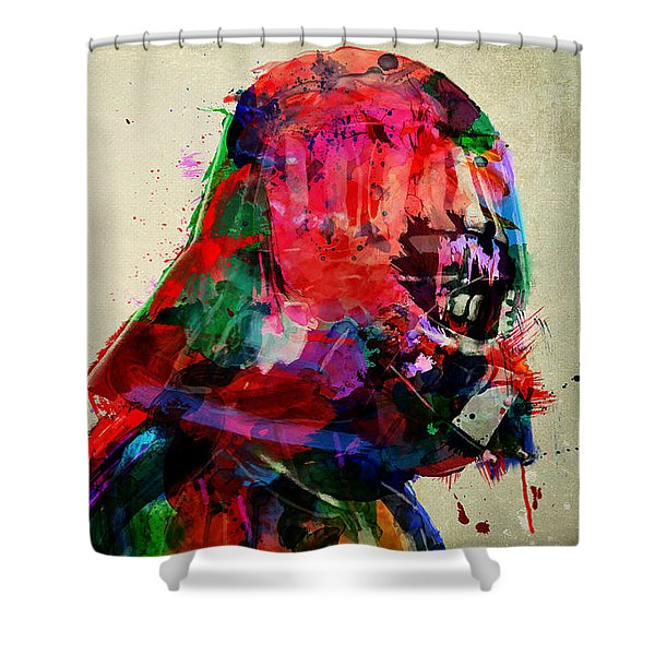 Vader In Color And Thought Shower Curtain