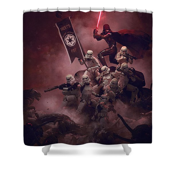 Vader Vs Aliens 3 Shower Curtain