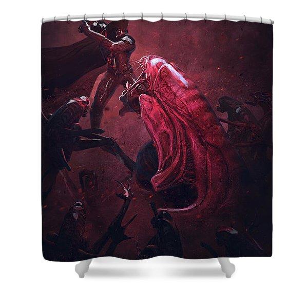 Vader Vs Aliens 5 Shower Curtain