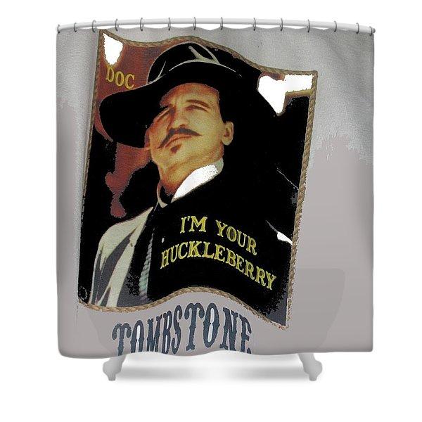 Val Kilmer As Doc Holliday  Tombstone T Shirts Window Display Tombstone Arizona 2004-2015 Shower Curtain