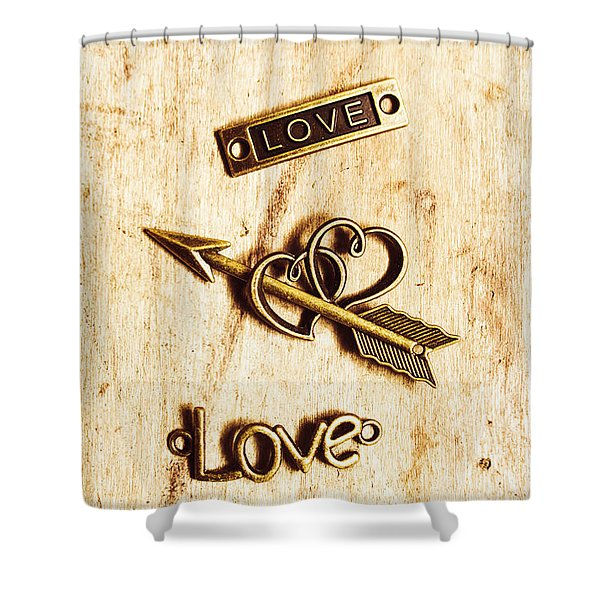 Valentine Pendants Shower Curtain