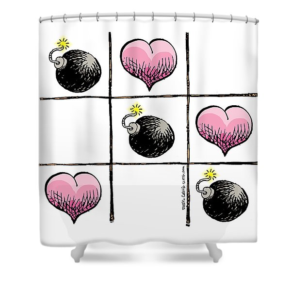 Valentine Violence Shower Curtain