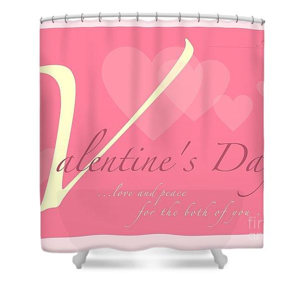 Valentine's Day Shower Curtain