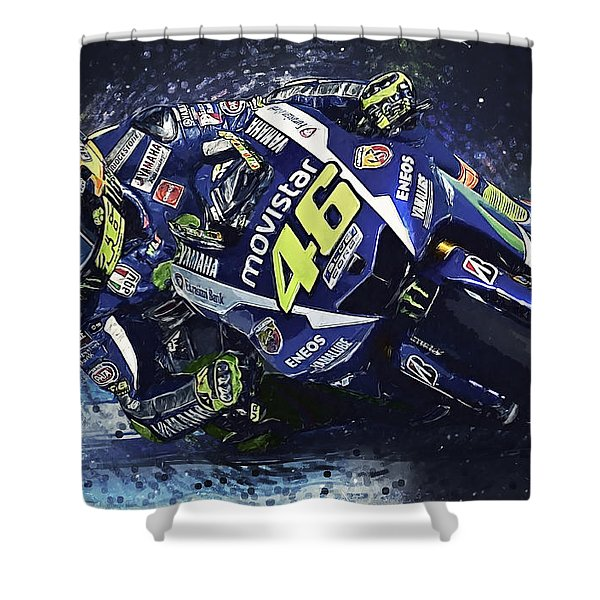 Valentino Rossi Shower Curtain