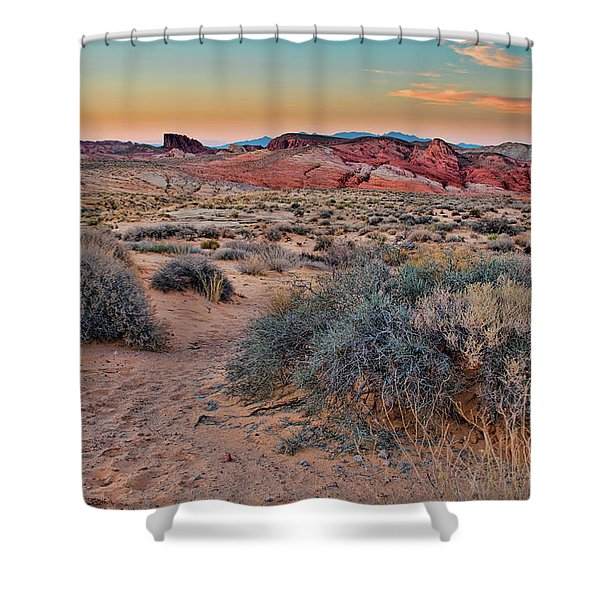 Valley Of Fire Sunset Shower Curtain