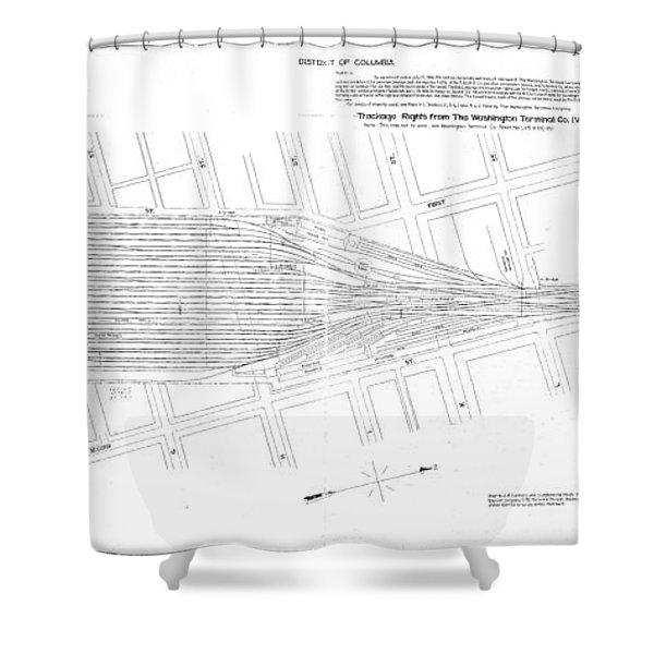 Valuation Map Washington Union Station Shower Curtain
