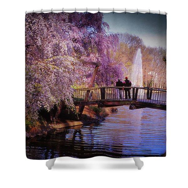 Van Gogh Bridge - Reston, Virginia Shower Curtain