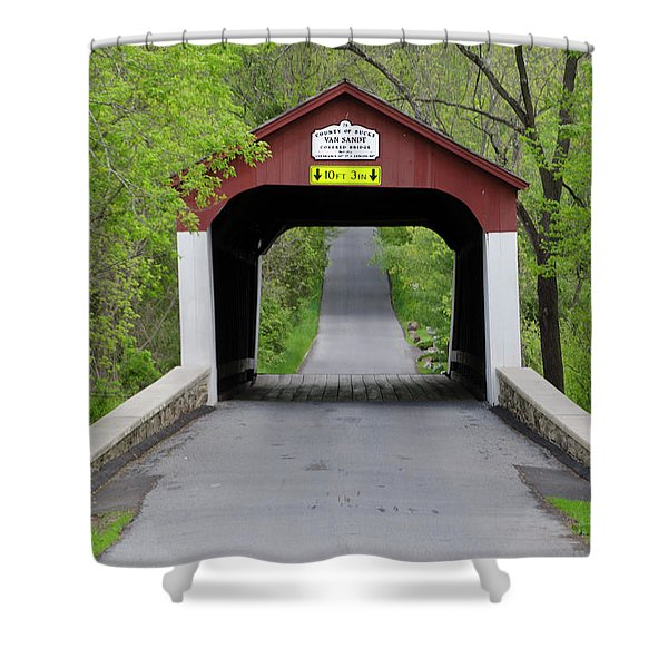 Van Sandt Covered Bridge - Bucks County Pa Shower Curtain
