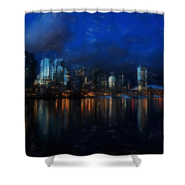 Vancouver At Dusk Shower Curtain
