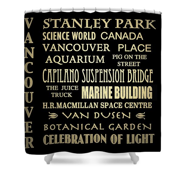 Vancouver Canada Famous Landmarks Shower Curtain