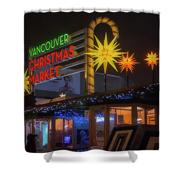 Vancouver Christmas Market  Shower Curtain