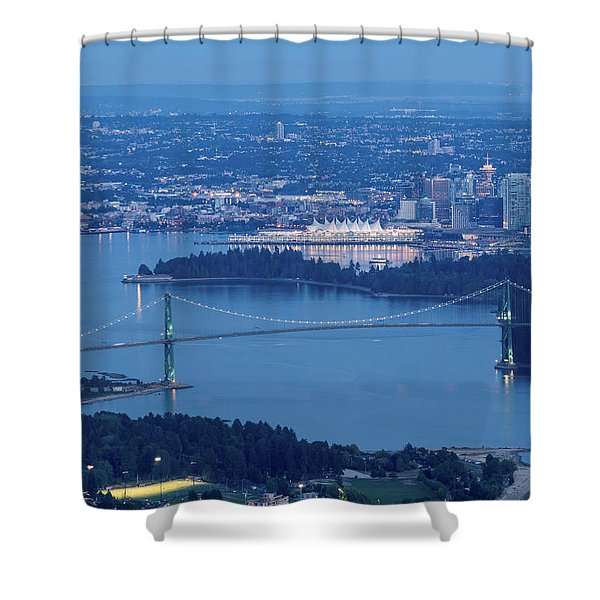 Vancouver Harbour Late Afternoon Shower Curtain