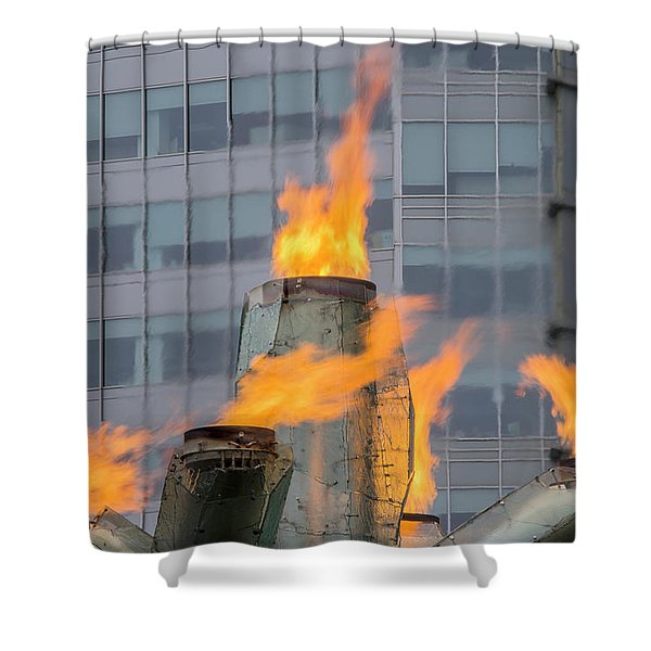 Vancouver Olympic Cauldron 2 Shower Curtain