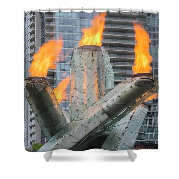 Vancouver Olympic Cauldron Shower Curtain