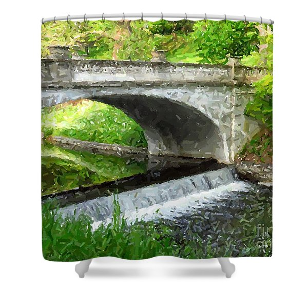 Vanderbilt Bridge Shower Curtain