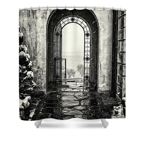 Vanderbilt Doorway In Centerport Shower Curtain