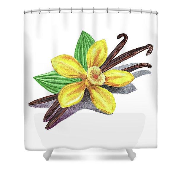 Vanilla Sticks And Flower Shower Curtain