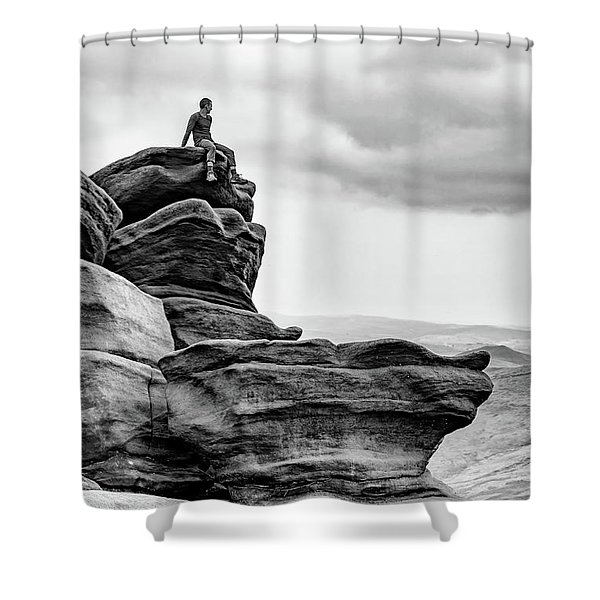 Shower Curtain featuring the photograph Vantage Point by Nick Bywater
