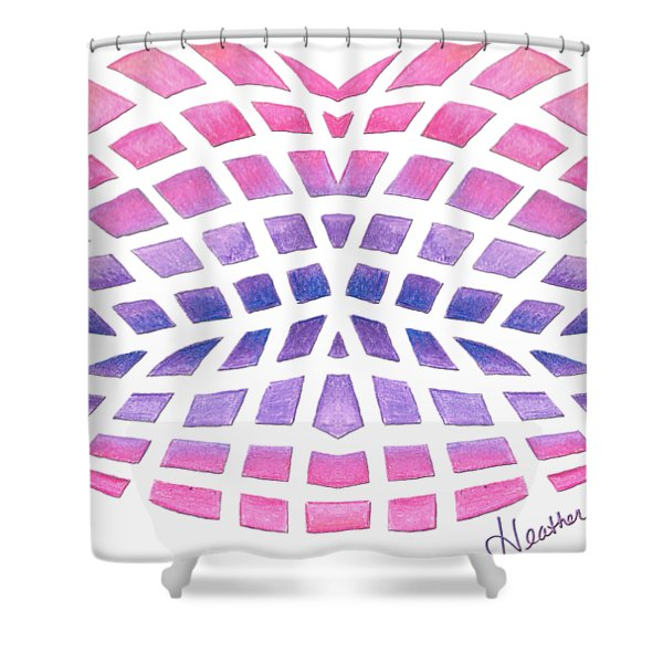Vasarely Style Lips Shower Curtain