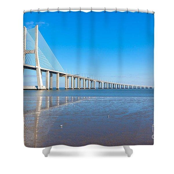 Vasco Da Gama Bridge, Lisbon Shower Curtain