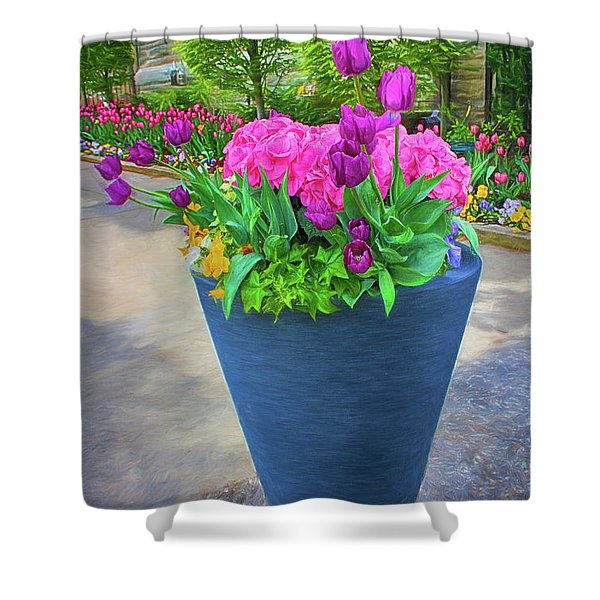 Vase And Flowers Series 05 Shower Curtain